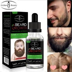 Aichun Beauty Men Moustache Beard Essential Oil Beard Growth Fast Enhance Facial Whiskers Nutrition Repair Growth