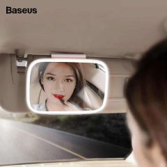 Baseus Car Interior Mirror Universal LED Auto Sun Visor Mirror Cosmetic Makeup Mirrors Automobile Decoration Mirror Car