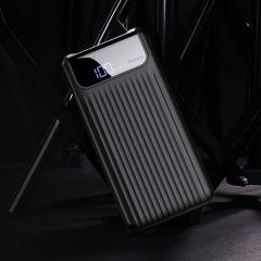 Baseus Portable Thin Digital 10000mAh Power Bank QC 3.0 Dual USB Powerbank Slim External Battery Fast Quick Charger Type-C