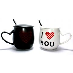 I Love You  Couple Mug Set Matching His Her Coffee Tea Mugs Cup Anniversary Wedding Valentine Girlfriend Gift