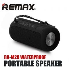 REMAX M28 Portable Waterproof Wireless TWS Bluetooth Speaker with Mic Support Aux-in - Black